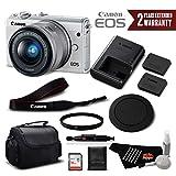 Canon EOS M100 Mirrorless Digital Camera with 15-45mm Lens (White) 2210C011 International Version - Standard Bundle