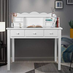 Home Office Furniture Writing Desk,Computer Work Station with Detachable Hutch,5 Drawers