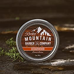 Beard Balm - Rocky Mountain Barber - 100% Natural - Premium Wax Blend with Cedarwood Scent, Nutrient Rich Bees Wax, Jojoba, Tea Tree, Coconut Oil  Image 4