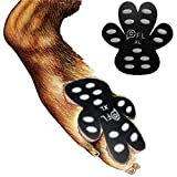 "Dog Paw Protection Anti-Slip Traction Pads with Grips, 24 Pieces Self Adhesive Disposable Dog Shoes for Hardwood Floor Indoor Wear (XL-1.97""x2.24"",41-60 lbs)"