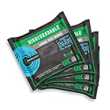 Surviveware Biodegradable Wet Wipes 4-Pack - Large Rinse Free Shower Wipes for Post Workout, Camping, Backpacking, Outdoors and Hiking
