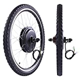 LAZYMOON 26' Rear Wheel 48V 1000W Electric Powered Bicycle Motor Cycling Conversion Kit