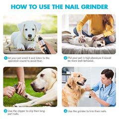 New-VersionPet-Nail-Grinder-Superior-Electric-Paw-Trimmer-Clipper-with-Diamond-Bit-WheelRechargeable-Portable-Gentle-Painless-Paws-Grooming-Trimming-Shaping-Smoothing-Perfect-for-Dogs-Cats