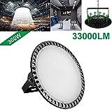 60W Deformable LED Garage Light Ceiling Light Factory Warehouse Industrial Lighting, 6000 Lumen White Light IP65 Waterproof Industrial Warehouse Mining Lamp- LED High Bay Lighting E27 (Cold White)