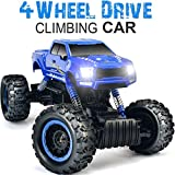 DOUBLE E 1:12 RC Cars Monster Truck 4WD Dual Motors Rechargeable Off Road Remote Control Truck, Blue