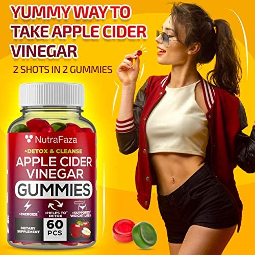 (2 Pack) Apple Cider Vinegar Gummies with Mother for Immunе Support - Vegan - Detox, Cleanse Support - Bloating Relief - Gummy Alternative to Apple Cider Vinegar Capsules, Pіlls, Made in USA 7