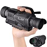 Landove 5x40mm Infrared HD Digital Night Vision Monocular with 1.5 inch TFT LCD and Camera & Camcorder Function Takes Photo and Video up to 350m/1150ft Detection Distance for Night Watching