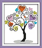 Full Range of Embroidery Starter Kits Stamped Cross Stitch Kits Beginners for DIY Embroidery with 40 Pattern Designs - Giving Tree