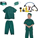 Toy Cubby Kids Pretend Realistic Doctor Costume and Doctor Play Set Tools