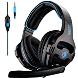 Sades SA-810 Multi-platform Compatible Over-Ear Stereo Bass Gaming Headphone with Noise Isolation Microphone - Black