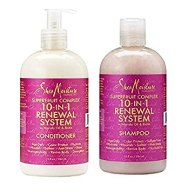Image result for shea moisture renewal system shampoo and conditioner