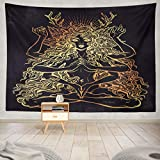 Summor Tapestry Beautiful Pagan Magic Occult Many Armed Goddess Girl Long Hair Magic Diety Spiritual Hinduism Hanging Tapestries 60 x 80 inch Wall Hanging Decor for Bedroom Livingroom Dorm