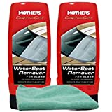 Mothers California Gold Water Spot Remover for Glass (12 oz) Bundle with Microfiber Cloth (3 Items)