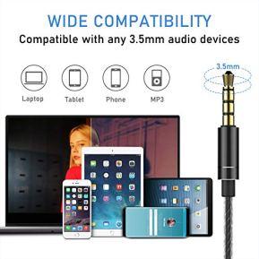 Blukar-Ecouteurs-Intra-Auriculaires-Ecouteurs-Intra-Auriculaires-Filaires-avec-Microphone-Controle-du-Volume-Deep-Bass-Anti-Bruit-Casque-Ergonomique-pour-iPhone-Smartphones-Android-MP3-etc