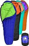 Hyke & Byke Eolus 0 Degree F 800 Fill Power Hydrophobic Goose Down Sleeping Bag with ClusterLoft Base - Ultra Lightweight 4 Season Men's and Women's Mummy Bag Designed for Backpacking