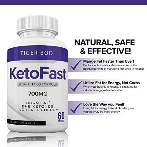 Keto Fast Diet Pills, Keto Fast Burn Weight Management Capsules 700 mg, Pure Keto Fast Supplement for Energy, Focus - BHB Ultra Boost Exogenous Ketones for Rapid Ketosis for Men Women 7