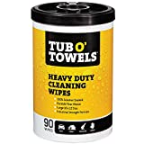 Tub O Towels Heavy-Duty 10' x 12' Size Multi-Surface Cleaning Wipes, 90 Count Per Canister