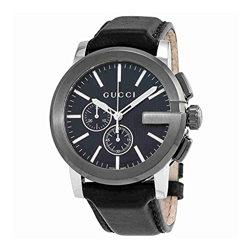 514u%2Bj2WHoL YA101205 Stainless steel case, Leather Strap, Black dial, Quartz movement, Scratch-resistant sapphire, Water resistant up to 5 ATM - 50 Meters - 165 Feet Case Shape - Round