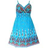 Product review for 81710 B - Plus Size Padded Cotton She's Cool Beach Sun Summer Dress Blue