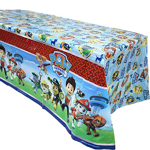 3 Pack Paw Dog Patrol Themed Birthday Party Decorations - Disposable PAW Dog Patrol Plastic Tablecloth, 71.25 x51.96 ',Table Cover Party Supplies for Kids