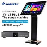 InAndon KV-V5 PLUS Karaoke Player Intelligent voice keying machine online movie dual system coexistence real-time score The newest stytle (KV-V5 PLUS+6TB HD)