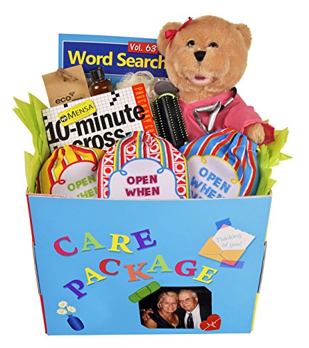 THE HOSPITAL BOX – GET WELL SOON CARE PACKAGE KIT. FEEL BETTER GIFT BOX. PERSONALIZED HOSPITAL GIFT AFTER SURGERY. GET WELL. 514vSzJ8ONL