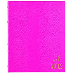 "BLUELINE Pink Ribbon NotePro Notebook, Bright Pink, 9.25"" x 7.25"", 150 Pages (A7150.PNK4)"