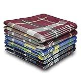 Selected Hanky 100% Cotton Men's Handkerchief 6 Piece Gift Set