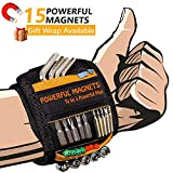 Magnetic Wristband Best Gifts For Men, Magnetic Tool Belt for Men Gift, Super Strong Magnets, Wrist Tool Holder for Holding Screws, Nails, Drill Bits, Best Gift for Men, Dad, DIY Handyman.(1)