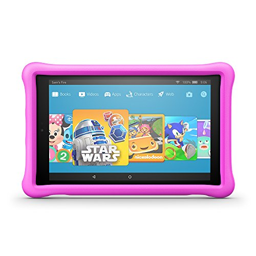 Fire HD 10 Kids Edition Tablet, 10.1' 1080p Full HD Display, 32 GB, Pink Kid-Proof Case