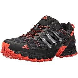 Adidas Men's Rockadia Trail M Running Shoe, Black/Black/Energy, 10.5 M US