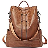 Women Backpack Purse Leather Fashion Travel Casual Detachable Ladies Shoulder Bag Brown