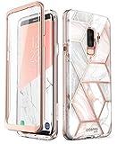 i-Blason Cosmo Full-Body Glitter Clear Bumper Case for Galaxy S9 Plus 2018 Release, Marble