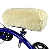 KneeRover Deluxe Synthetic Sheepskin Knee Walker Kneepad Cover with Thick Comfortable Padding