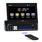 BOSS Audio BV9986BI - in-Dash, Single DIN, Bluetooth, DVD/CD/MP3/USB/SD AM/FM Receiver, Motorized 7' Touchscreen, Detachable Front Panel