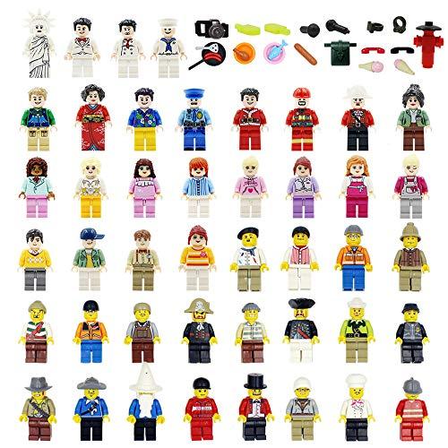 Set of 70 Minifigures Building Bricks Community People - LOW PRICE!