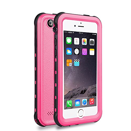 iPhone 5 5S SE Waterproof Case, IP68 Certified Waterproof Shockproof Dirtproof Snowproof Heavy Duty Protective Cover, Full Sealed Case with Built-in Screen Protector for iPhone 5 5S SE (PINK)