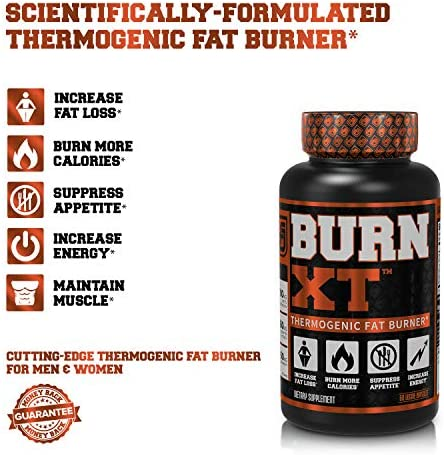 Burn-XT Thermogenic Fat Burner - Weight Loss Supplement, Appetite Suppressant, Energy Booster - Premium Fat Burning Acetyl L-Carnitine, Green Tea Extract, More - 60 Natural Veggie Diet Pills 8