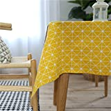 RubyShopUU Rectangular Table Cloth European Table Cover Accessories Decorations Modern Tablecloth Yellow Butterfly Shell Starfish Print