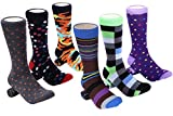 Mio Marino Men's Dress Socks - Colorful Funky Socks for Men - 6 Pack (Designer Collection, 10-13)