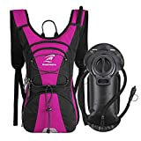SHARKMOUTH FLYHIKER Hiking Hydration Backpack Pack with 2.5L BPA Free Water Bladder, Lightweight and Comfortable for Short Day Hikes, Day Trips and Trails, Rose