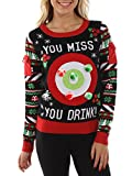 Product review for Tipsy Elves Women's Drinking Game Ugly Christmas Sweater - Funny Christmas Sweater