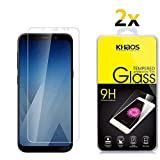 [2 Pack] Screen Protector for Samsung A8 Plus, KHAOS Tempered Glass Screen Protector for Samsung Galaxy A8 Plus 9H HD-Clear Ant-Scratch Glass Protector