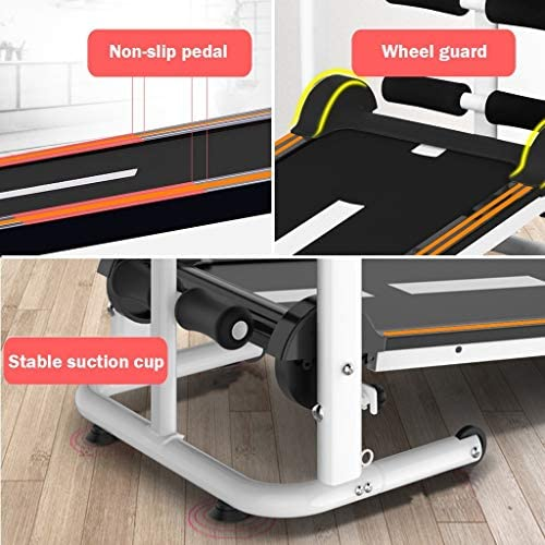 NBSR Folding Treadmill for Home,Treadmills for Women 340lbs Weight Capacity Silent Treadmill Folding Shock Running, Supine, Twisting, Draw Rope 4-in-1 Mechanical Mini Walking Machine 6