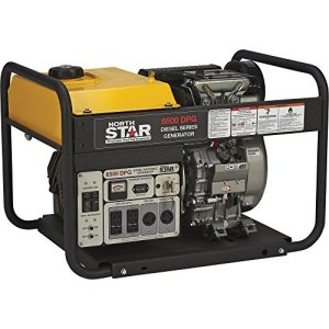NorthStar Diesel Generator – 6500 Surge Watts, 6120 Rated Watts, Electric Start, EPA Tier 4 Compliant
