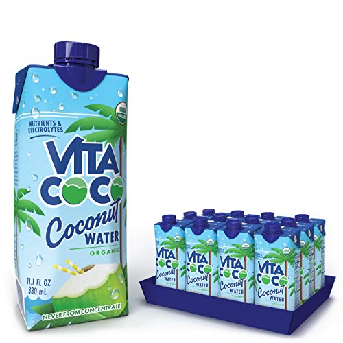 Vita Coco Coconut Water, Pure Organic | Refreshing Coconut Taste | Natural Electrolytes | Vital Nutrients | 11.1 Oz (Pack Of 12) 1