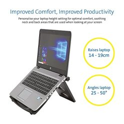 "515CZRVrMxL - Kensington Easy Riser Portable Ergonomic Laptop Cooling Stand (12""-17"") for Windows & Mac devices such as Dell, Toshiba, HP, Samsung, MacBook, Lenovo with Secure Fit and SmartFit System - Grey (60112)"