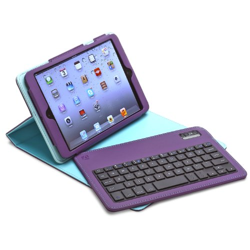 Aduro FACIO Folio Case with Bluetooth Removable Keyboard for Apple iPad (Retail Packaging) (iPad Mini (Retina), Blue/Turquoise)