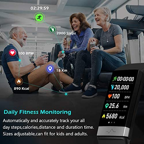 MorePro Heart Rate Monitor Blood Pressure Fitness Activity Tracker with Low O2 Reminder, IP68 Waterproof Smart Watch with HRV Sleep Health Monitor Smartwatch for Android iOS Phones 4