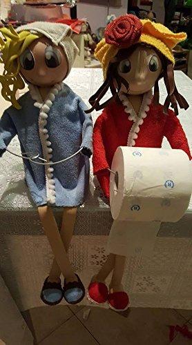 Bambole Porta Rotolo Della Carta Igienica Amazonit Handmade
